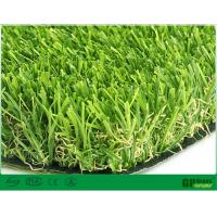 Quality 30mm UV Resistant Garden Artificial Grass 3 / 8 Inch With 140/m Stitches for sale