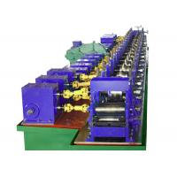 Quality Gearbox Driven Cold Roll Forming Machine For Escalator Lift Hollow Elevator Guide Rail for sale