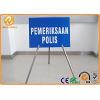 Portable Foldable Traffic Warning Signs with Tripod Stand Galvanized Tube Diameter 1""