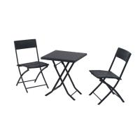 Quality Outdorr Rattan Furniture Set Folding Table /Chair Patio Dinning Set for sale