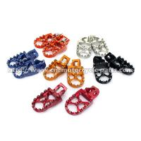 Quality MX Dirt Bike Foot Pegs Stainless Steel Teeth Color Anodized Surface for sale