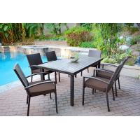 Quality High quality Wicker Garden Outdoor Furniture Rattan Dining Table and Chairs Set for sale