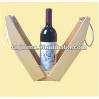 Quality recycle wooden wine glasses gift box for sale