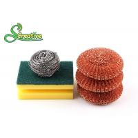 Silver Metal Scouring Ball / Stainless Steel Cleaning Pads For Pot Washing