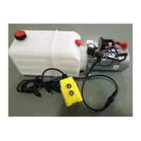 Quality Dump Trailer Hydraulic Power Pack Plastic Tank , DC 12V 2000W for sale