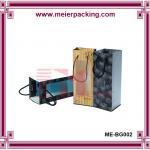 Quality Paper Bag for Wine Bottle/Handmade Wine Paper Bag with Clear Window/Kraft Wine Paper Bag ME-BG002 for sale