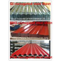 Quality 0.50mm*840mm*4000mm roof plate PPGI corrugated steel sheet for sale