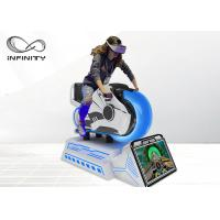 China Infinity 9D VR HD 3 DOF Racing Car Equipment Virtual Reality Motorcycle Simulator  For Shopping Mall on sale