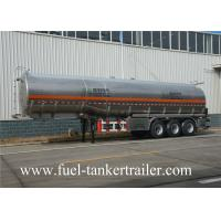 40 Ton Manganese steel Vacuum Tank Trailer For Fuel Petrol Delivery
