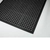 Quality Hollow Out And Anti-slipped Rubber Door Mat  With Customised Logo for sale