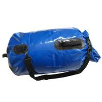 Quality Blue Mesh Waterproof Camping Bag , PVC Dry Sack Backpack Easy To Store Away for sale