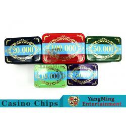 China Economy Plastic Casino Poker Chips Set 760 pcs With Aluminum Case for sale