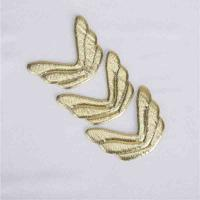 China Silver Ultrasonic Embossing Flowers Crafts Fabric Wings Crafts Use In Gift Decoration for sale