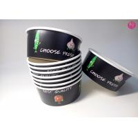 Black Background Paper Salad Bowls , Eco Friendly take out salad containers 44oz