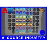 Quality 2cm Diameter Custom Holographic Stickers Anti - Counterfeiting PET Material for sale
