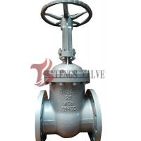 Quality Din Pn25 Manual Cast Steel Gate Valve , Bolted Cover Metal Seated Gate Valve for sale