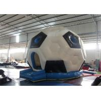China Kids Double Layers Blow Up / Inflatable Indoor Bouncers With Football Shape on sale