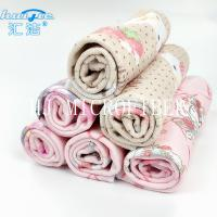 Buy cheap Microfiber Printed Hand Towel Home Use Baby Towel 40*40cm Square Shape Pink Color from Wholesalers
