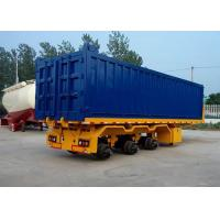 Quality 2 And 3 Axle Flatbed Semi Trailer With Capacity 40-70T ISO9001 Standard for sale