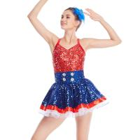 Quality Amazing Tap Costume Race Back Dance Dress Performance Wear for sale