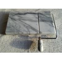 """Quality 5"""" Marble Cheese Slicer , Marble Cheese Board Cutter Anti Slip White With Vein for sale"""