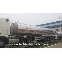 Buy cheap Tri - axle Fuel Tanker Trailer Oil Trailer Truck , fuel tanker trucks from Wholesalers