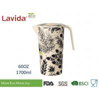 Quality Large Capacity Bamboo Water Jug Environmental Friendly Glass Non - Toxic Easy Cleaning for sale