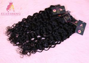 Quality No Shedding Natural Black 30 Inch Italian Wave Human Hair Extension for sale