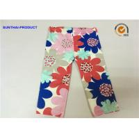 Quality Large Floral Printed Cute Baby Girl Leggings Color Customized For Infant for sale