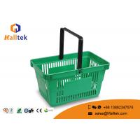 China Eco - Friendly Supermarket Shopping Basket Plastic Grocery Hand Baskets on sale