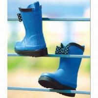 Quality Children's rubber rain boots, made of 100% natural rubber material for sale