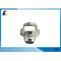 China Precision CNC Machined Stainless Steel Threaded Rod Couplers Pipe Fitting Hex Adaptor on sale