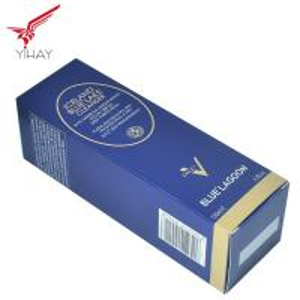 China Free sample wholesale custom blue cosmetics folding carton paper box on sale