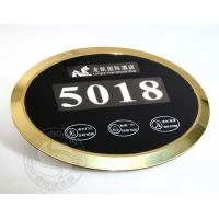 Quality Luxury Hotel Electronic Doorplate Touch Doorbell Switch with LED Room Number Display for sale