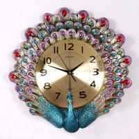 China Art peacock clock Home decoration on sale