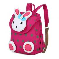 China Promotional Kid Canvas Backpack School Bag Washable And Large Capacity on sale