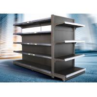 Quality Brown and white color supermarket display equipment adjustable and fashionable gondola with OEM design for sale