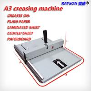 China CM-480 Strip Binding Machine 460mm Manual Scoring A3 Paper Creasing Machine on sale
