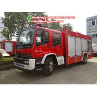 Quality Brand new FTR ISUZU water foam fire truck with 6000liters for sale for sale