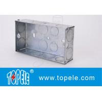 Galvanized Square Electrical Boxes And Covers For Lighting Fixture