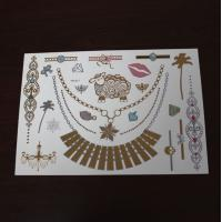 China 2015 Gold and silver foil temporary tattoo on sale
