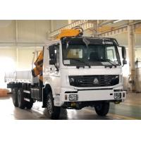 Quality Durable 8T Knuckle Boom Truck Mounted Crane , 40 L/min Truck With Crane for sale