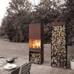 Quality Yard / Garden Cast Iron Fire Pot , Corten Steel Fire Pit Wood Burning Fireplace for sale