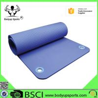 China Good Quality Exercise Mat Thick NBR Yoga Mat with Ring on sale