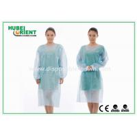Quality Sterile Reinforce SMS Disposable Isolation Gowns with Elastic Wrist for sale