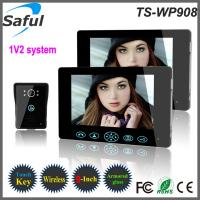 China Top Saful 9 inch touch key 2.4GHz apartment wireless video intercom with solar charger on sale