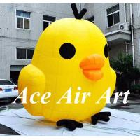 Quality custom cute little inflatable yellow chicken cartoon for advertising for sale