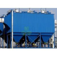 Quality Blue Horizontal Baghouse Dust Collector System With 128 Piece Filter Bags for sale