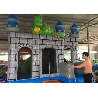 China 3 In 1 Big Dragon Bounce House Slide Combo , Dinosaur Jumping Bounce House on sale
