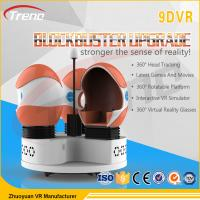 Buy cheap Thrilling Roller Coaster Rides 9D VR Simulator Rotating Chairs Arcade Machine from Wholesalers